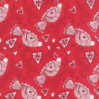 Moda North Woods by Kate Spain - 4800 - Scandinavian Style Partridges on Red - 27241 11 - Cotton Fabric